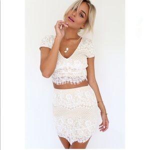 Sabo Skirt white lace set